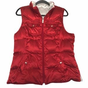 Ariat Red/Silver Duck Down Western Reversible Vest